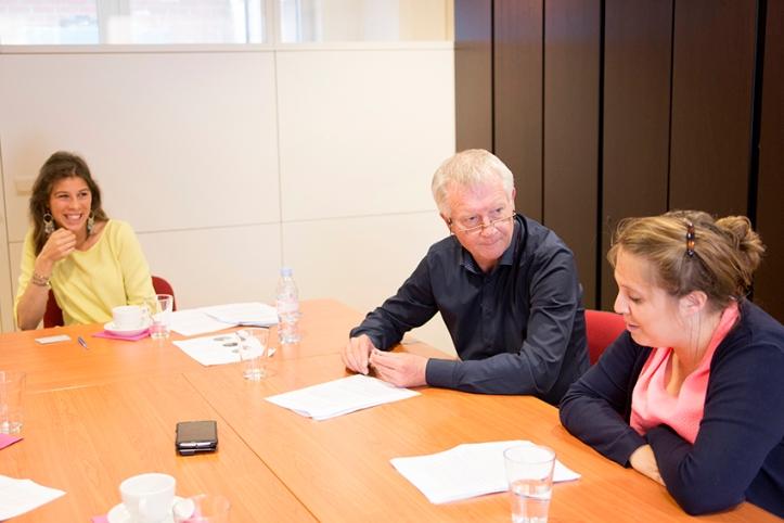 Margaux Dewitte, Peter Verhaegen en Laurence Deltomme