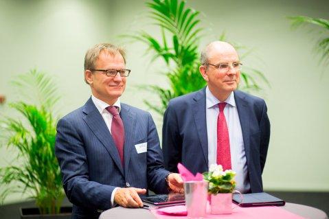 Erik Van Tricht en minister Koen Geens